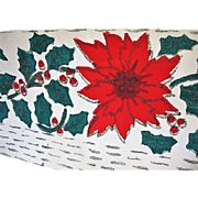 Vintage Christmas Wallpaper Boarder with Glitter