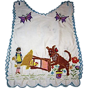 Wonderful Vintage Childs Bib or Over Blouse