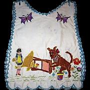 Wonderful Vintage Childs Bib or Over Blouse