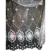 Vintage Net Lace Panel for Display Window Projects or Bridal Cape