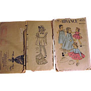 """Old Pattern for 19"""" Doll and Childrens Patterns"""
