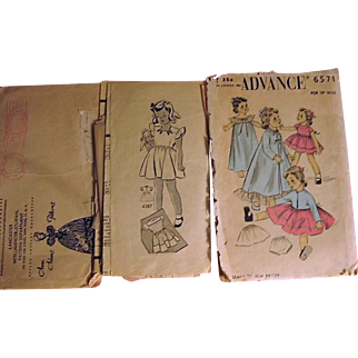 "Old Pattern for 19"" Doll and Childrens Patterns"