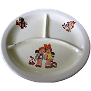 Vintage Baby Dish with Golliwogs