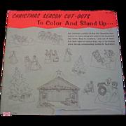 Vintage Christmas Cut Outs in Original Envelope