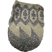 Steel Beaded Purse or Reticle For Dolls Early 1900s