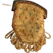Antique Small Macro Beaded Purse for Doll