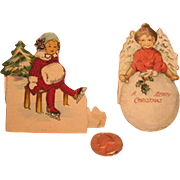 2 Little Vintage Christmas Cards