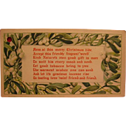 Christmas Advertising Tobacco Weed Christmas Greeting Card for Guys
