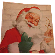 Vintage Santa Wrapping Paper or Window Shade