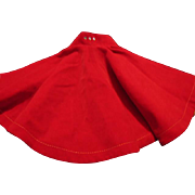 Red Velvet Skirt with Rhinestones for Doll
