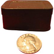 Tiny Tin Box for Dollhouse or German Roombox