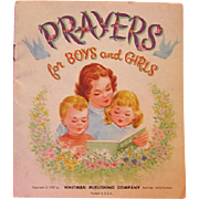 Prayers For Children 1957 Whitman Book