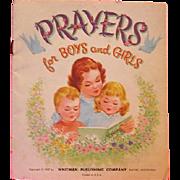 Prayers For Children 1957 Whitman Book