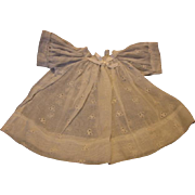 White Vintage Eyelet Doll Dress