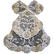 Antique Layered Lace Jabot Makes Great Adornment for Antique Doll Dress
