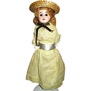 "German Bisque 13"" Doll Gift from Sunday School Teacher in 1905"