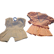 Two Vintage Doll Outfits from the 50s