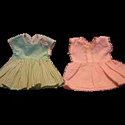 2 Vintage 1950s Doll Dresses