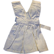 White Pinafore or Apron for Dolls or Bears