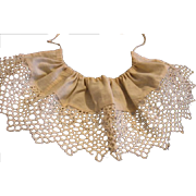 Old Drawstring Collar for Doll or Child