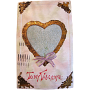 Vintage Valentine with Perfume Heart Center