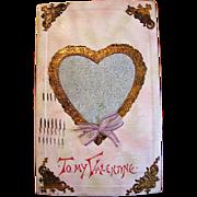Vintage Valentine with Perfume Heart Center