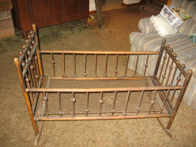 Victorian Baby Cradle Great for Doll Displays