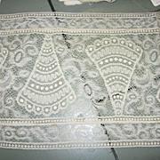 Old Lace Lace Lace Wide Fan Pattern Dainty Lace