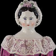Grape Lady China Head Doll by Emma Clear Scarce Model