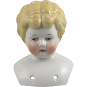 Blonde China Head Doll Marked Nippon 4 Inches