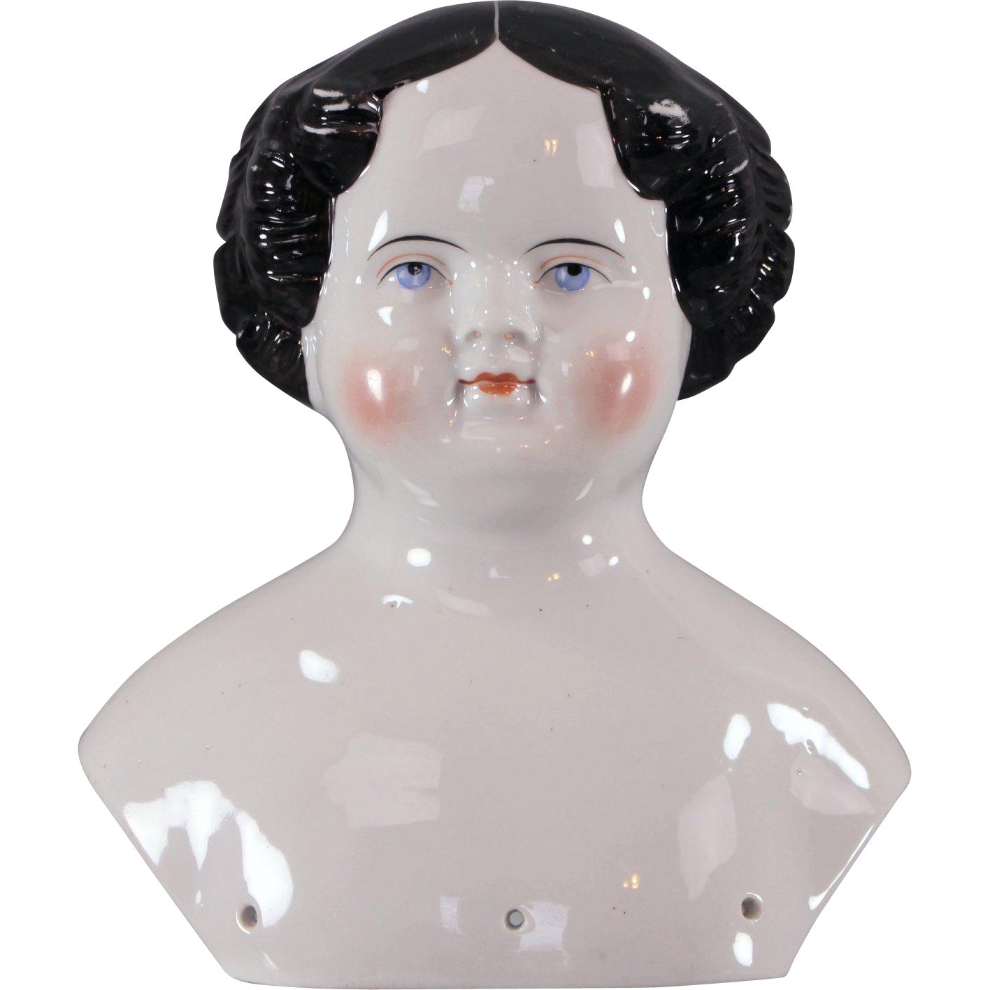 China Doll Head Civil War Era Large Kestner High Glaze