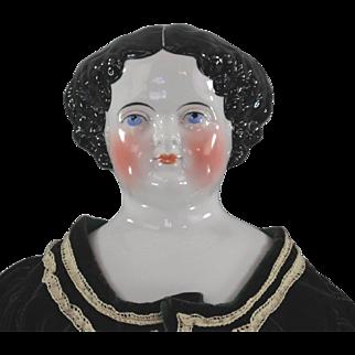 China Head Doll Civil War Era Amazing Large Eyes