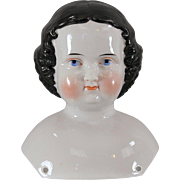 China Doll Head 1860s Unusual Hairstyle Exceptional Modeling