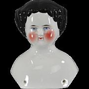 c1860 China Doll Shoulder Head 3-3/4 Inches Pristine