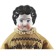 Small China Head Doll 9 Inch Cabinet Size