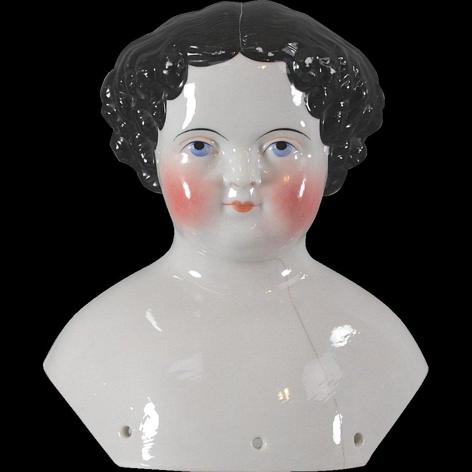 China Doll Head Civil War Era Shoulder Crack