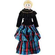 China Highland Mary Doll Scotish Costume Marked