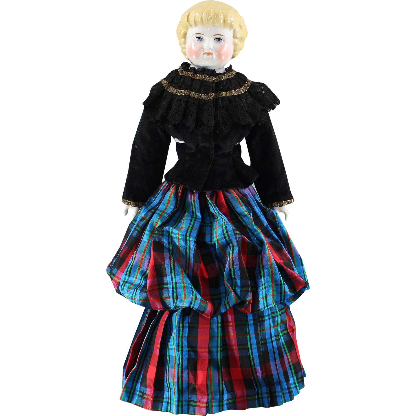 China Highland Mary Doll Scottish Costume Marked
