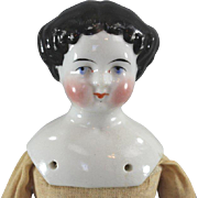 China Head Doll c1880s All Original Factory Body