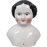 Civil War China Doll Head Exceptional Modeling Large Size