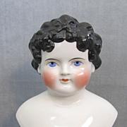 """Gorgeous Large China Head Dolley Madison 7-1/4"""""""