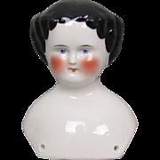 c1860 China Doll Shoulder Head 4-1/4 Inches Pristine
