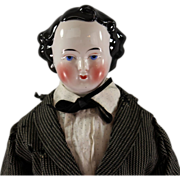Early 1860s Kestner China Head Gentleman Side Part