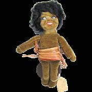 Norah Wellings Cloth Doll Black Islander 8 Inches All Original Provenance