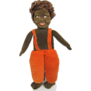 Norah Wellings Cloth Doll Black Islander 14 Inches All Original RED Hair