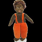 Norah Wellings Cloth Doll Black Islander 14 Inches All Original RED Hair