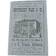 Miniature Montgomery Ward Catalogue Spring Summer 1875