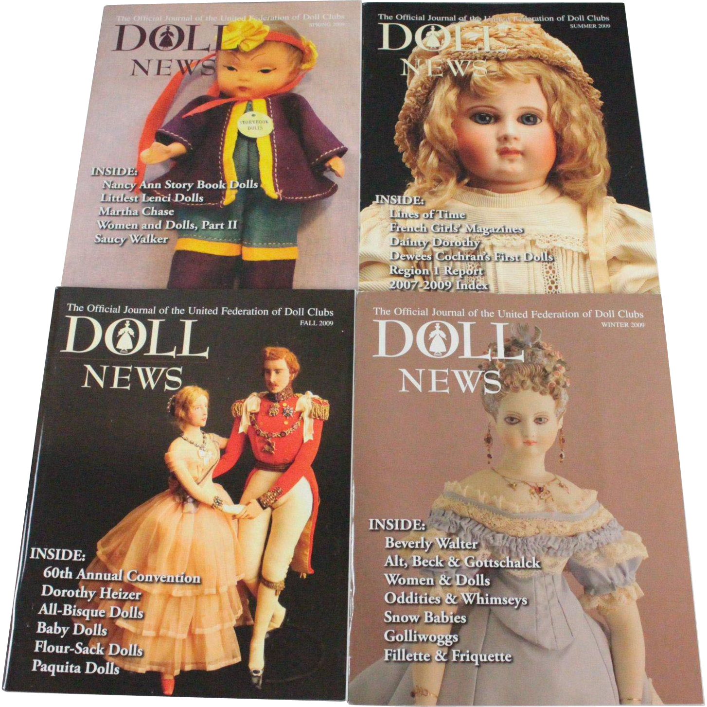 Doll News Complete Set 2009 Free Shipping in US
