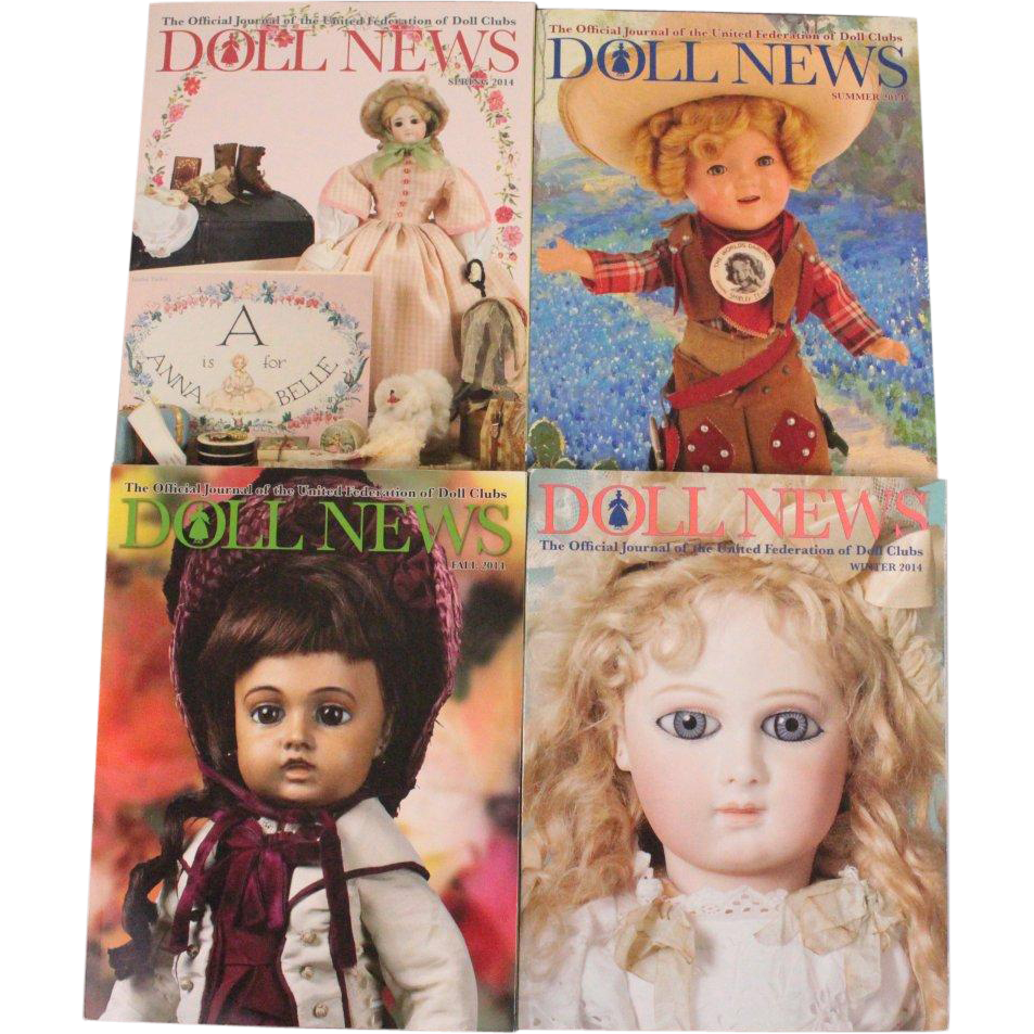 Doll News Magazine 2014 Complete Set of Four Issues UFDC Free Shipping (CUSA Only)