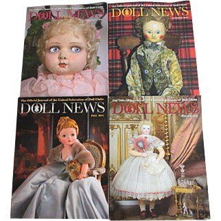 Doll News Magazine 2016 Complete Set of Four Issues UFDC Free Shipping (CUSA Only)